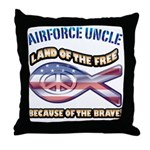 Airforce Uncle Throw Pillow