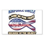 Airforce Uncle Sticker (Rectangle 50 pk)