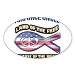 Airforce Uncle Sticker (Oval 10 pk)