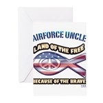 Airforce Uncle Greeting Cards (Pk of 20)