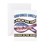 Airforce Uncle Greeting Card