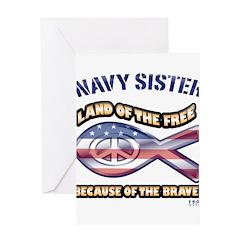 Navy Sister Greeting Card