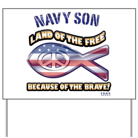 Navy Son Yard Sign