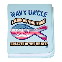 Navy Uncle baby blanket