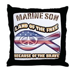 Marine Son Throw Pillow