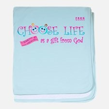 Choose Life baby blanket