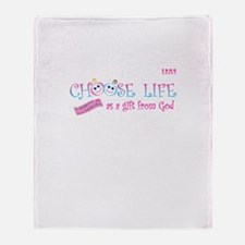 Choose Life Throw Blanket