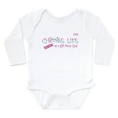 Choose Life Long Sleeve Infant Bodysuit