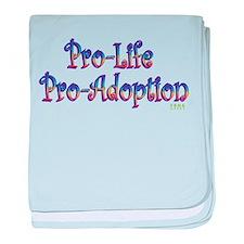 Pro-Life Pro-Adoption baby blanket