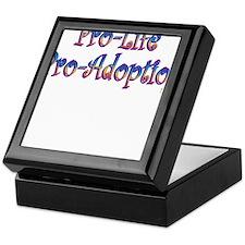 Pro-Life Pro-Adoption Keepsake Box