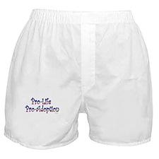 Pro-Life Pro-Adoption Boxer Shorts