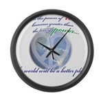 Power of Love Large Wall Clock
