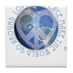 LovePeaceEarth Tile Coaster