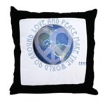 LovePeaceEarth Throw Pillow