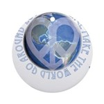 LovePeaceEarth Ornament (Round)