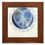 LovePeaceEarth Framed Tile