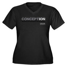 Life Begins at Conception! Women's Plus Size V-Nec