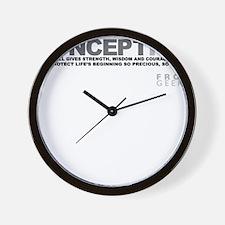 Life Begins at Conception! Wall Clock