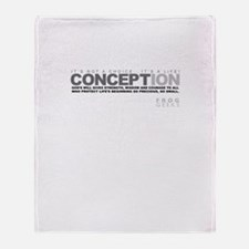 Life Begins at Conception! Throw Blanket