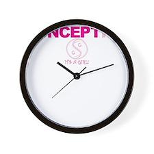 Life Begins... Girl Wall Clock