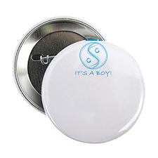 "Life Begins... Boy! 2.25"" Button"