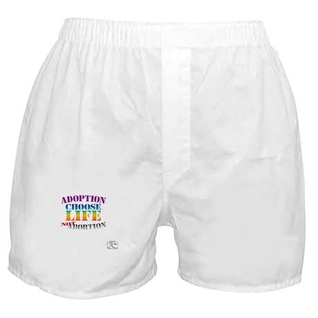 Adoption/No Abortion Boxer Shorts