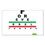 FROG eyechart Sticker (Rectangle 10 pk)