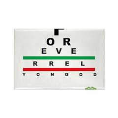 FROG eyechart Rectangle Magnet (100 pack)