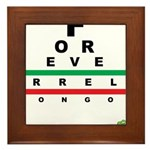 FROG eyechart Framed Tile
