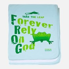 FROG = Forever Rely On God baby blanket