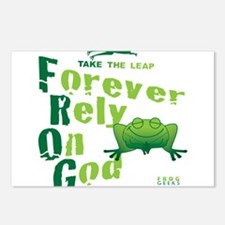 FROG = Forever Rely On God Postcards (Package of 8