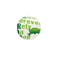 FROG = Forever Rely On God Mini Button (100 pack)