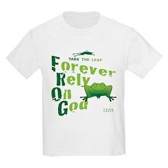 FROG = Forever Rely On God Kids Light T-Shirt