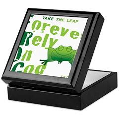FROG = Forever Rely On God Keepsake Box