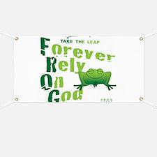 FROG = Forever Rely On God Banner
