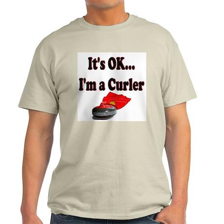 It's Ok...I'm a Curler Ash Grey T-Shirt