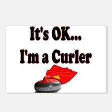 It's Ok...I'm a Curler Postcards (Package of 8)