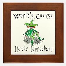 Little Leprechaun Framed Tile