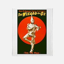 Vintage Wizard of Oz Tin Man Throw Blanket