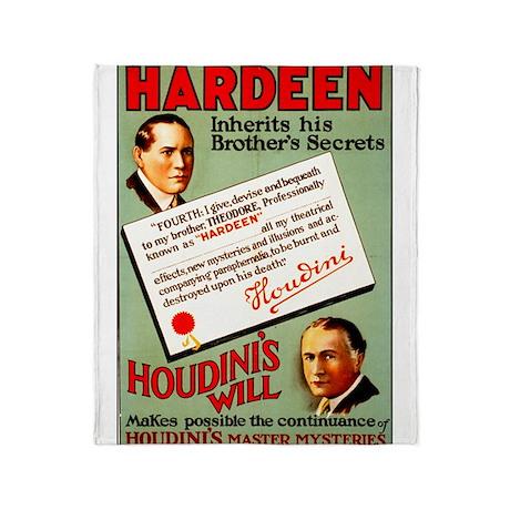 Hardeen Magician Throw Blanket