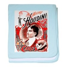 Harry Houdini King of Cards baby blanket