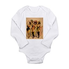 Four Burlesque Girls Long Sleeve Infant Bodysuit