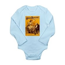 High Rollers Burlesque Long Sleeve Infant Bodysuit