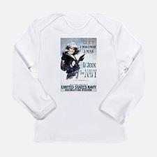I Wish Navy Long Sleeve Infant T-Shirt