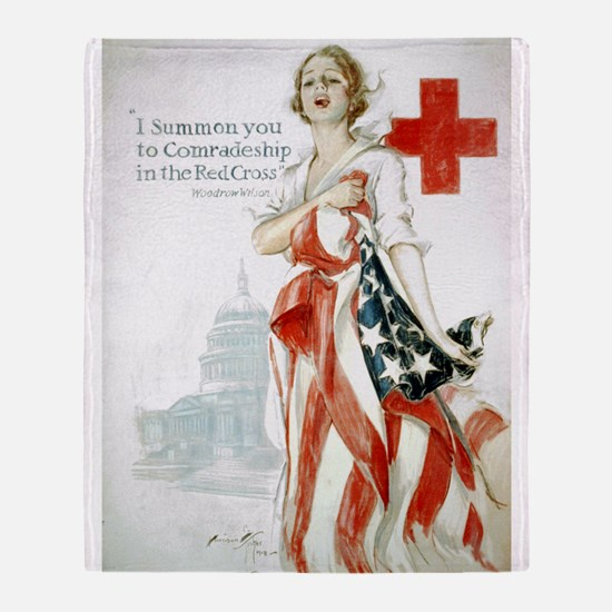 Red Cross Comradeship Throw Blanket