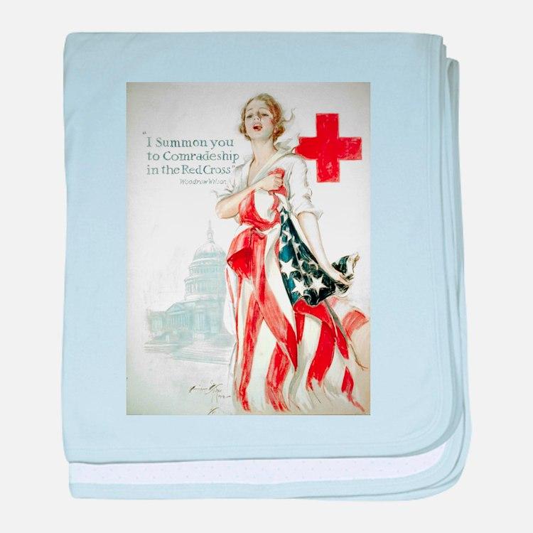 Red Cross Comradeship baby blanket