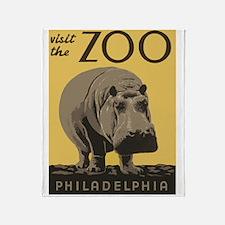 Zoo Hippo Throw Blanket