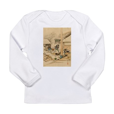 Japanese Ukiyo-e Samurai Long Sleeve Infant T-Shir