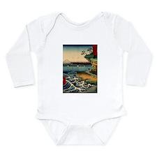Japanese Ukiyo-e Mt. Fuji Long Sleeve Infant Bodys