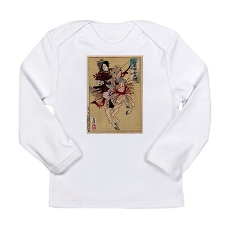 Hangaku Female Warrior Long Sleeve Infant T-Shirt